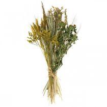 Set DIY fleurs séchées jaune pour faire sécher le bouquet 60cm