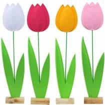 Tulipe fleur en feutre Différentes couleurs H88cm
