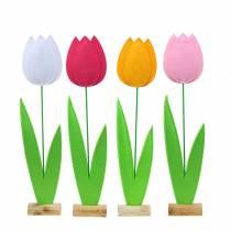Tulipe fleur en feutre H68cm Différentes couleurs