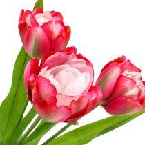 Tulipe factice fuchsia 60 cm 3 p.