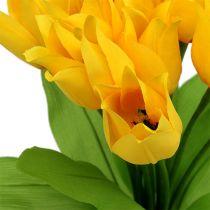 Piquet de tulipes jaunes H 30 cm