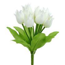 Piquet de tulipes blanches 30 cm