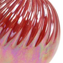 Vase, Mini Vase Nacre Rouge Ø7,5cm H10cm 6pcs