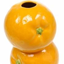 Vase de décoration oranges vase en céramique décoration d'été vase à fleurs d'agrumes