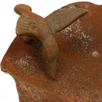 Bain d'oiseau décoratif, mangeoire en acier inoxydable, bain d'oiseau antique Ø28cm H74cm