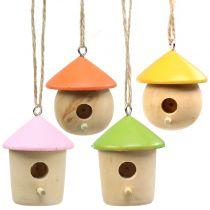 Décoration à accrocher birdhouse 5cm 8pcs