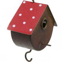 Nichoir décoratif, nichoir à accrocher, automne, mangeoire à oiseaux, décoration métal H14–12cm L34–37cm