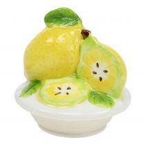 Bocal en verre avec couvercle citron 15,5 cm