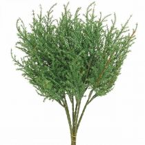 Branche de genévrier branche décorative verte artificielle Noël 39cm 6pcs