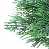 Branche décorative de genévrier avec cônes vert, bleu lavé 25cm 2pcs