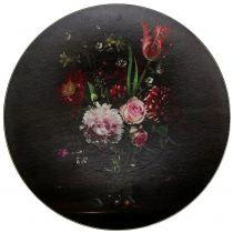 Assiette murale à motif floral Ø 33 cm