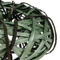 Couronne en osier verte petit format Ø 28 cm