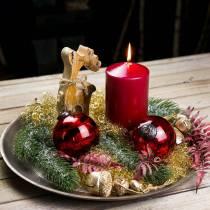 Assiette décorative en bois champagne Ø 32 cm