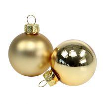 Boule de Noël 4cm or brillant / mat 28pcs