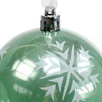 Boule de Noël Ø 8 cm vert clair plastique 1 p.