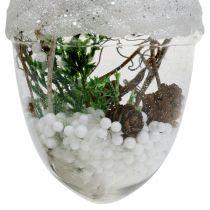 Décoration de sapin boule a neige Ø8cm 2pcs