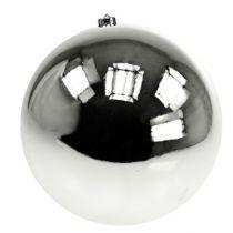 Boule de Noël en plastique grand argent Ø25cm