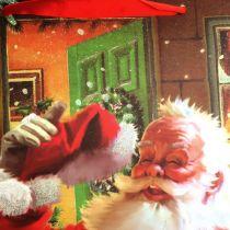 Pochette de fête avec Père Noël 32 cm x 2 6cm x 10 cm
