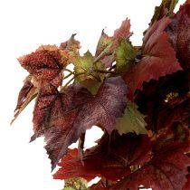 Retombée de feuilles de vigne vert, rouge foncé 100 cm