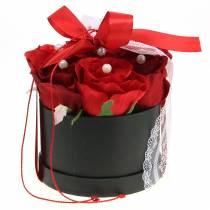 Boîte à fleurs argentée Ø 14/16 cm 2 p.