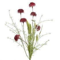 Fleurs des champs rouges L. 60 cm 3 p.