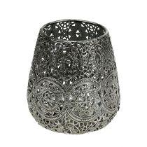 Photophore Argent Ø12cm H13cm 1pcCandle jar