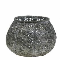 Lanterne Orient Argent Antique Ø13cm H9,5cm