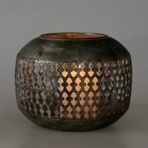 Lanterne Orient aspect antique Ø18cm H14cm