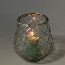 Windlight losange antique Ø13cm H14cm