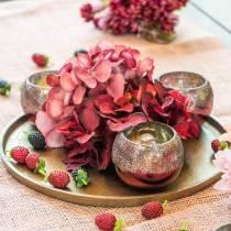 Vent léger en verre rose Ø8,5cm H6,5cm 4pcs