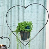 Wind Light Heart en métal 28cm photophore pour verre suspendu 9cm