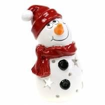Bonnet léger bonhomme de neige rouge 20cm