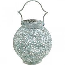 Lampe à vent en métal, lanterne, bougeoir aspect antique Ø15cm H22cm