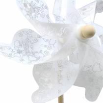 Moulin à vent blanc Ø30cm