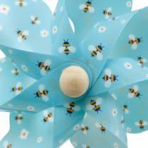Moulinet abeilles turquoise Ø16 décoration d'été carillons éoliens moulin à vent 4pcs