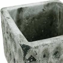 Pot de fleurs, récipient en céramique, décoration de table optique antique H8cm 4pcs