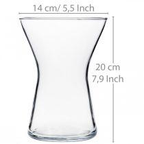 Vase en verre X transparent Ø14cm H19cm
