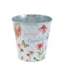 Pot de fleur en métal chapeaux de soleil jardinière décoration de printemps Ø11,5cm H10,5cm