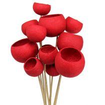 Bell Cup sur un bâton mix rouge 15pcs