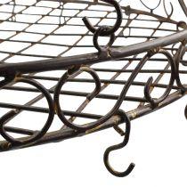 Plateau avec crochet pour suspendre brun, rouille Ø45cm