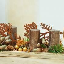 Bougies colorées cuivre métallique Différentes tailles