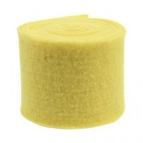Bande de feutrine jaune clair 15 cm 5 m