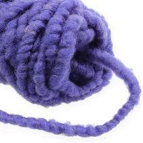 Polaire cordon feutre Mirabell 25m violet