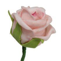 Rose en foam Ø 3,5 cm Rose saumon 30 ex.