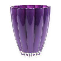 """Vase En Verre """"Bloom"""" Violet Ø14cm H17cm"""