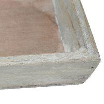 Soucoupe en bois grise 57 x 17 cm