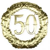 Numéro d'anniversaire doré 50 Ø 40 cm