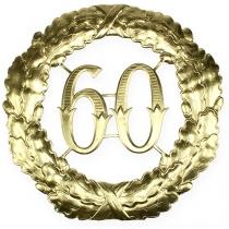 Numéro d'anniversaire doré 60 Ø 40 cm