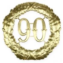 Numéro d'anniversaire doré 90 Ø 40 cm