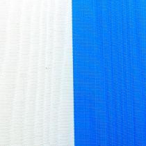 Rubans pour couronne moirés bleu-blanc